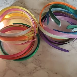 Other - Rainbow colorful 24 bundle lot satin headbands